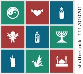 religion icon. collection of 9... | Shutterstock .eps vector #1117010201
