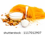 close up of raw vermicelli or... | Shutterstock . vector #1117012907