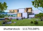 3d rendering of modern cozy... | Shutterstock . vector #1117013891