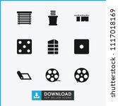 roll icon. collection of 9 roll ... | Shutterstock .eps vector #1117018169