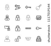 private icon. collection of 16... | Shutterstock .eps vector #1117019144