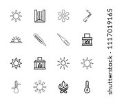 heat icon. collection of 16...   Shutterstock .eps vector #1117019165