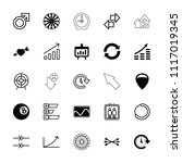arrow icon. collection of 25...   Shutterstock .eps vector #1117019345
