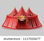 vector 3d realistic circus tent ... | Shutterstock .eps vector #1117020677