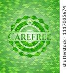 carefree green emblem. mosaic... | Shutterstock .eps vector #1117035674