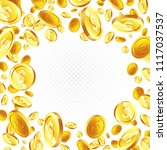 flying gold coins. illustration ... | Shutterstock .eps vector #1117037537