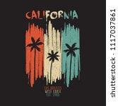 california vintage t shirt... | Shutterstock .eps vector #1117037861