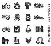 bio fuel icons. black scribble... | Shutterstock .eps vector #1117040381