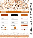 light orange vector wireframe...