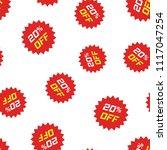 discount sticker icon seamless... | Shutterstock .eps vector #1117047254