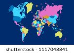 color world map vector | Shutterstock .eps vector #1117048841
