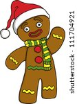 christmas ginger bread | Shutterstock .eps vector #111704921