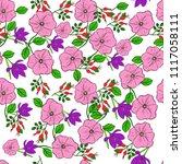 vector seamless floral... | Shutterstock .eps vector #1117058111
