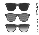 striped perforation sunglasses... | Shutterstock .eps vector #1117064471