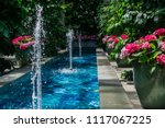 scenic view of water fountains... | Shutterstock . vector #1117067225