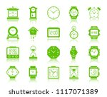 watch silhouette icons set. web ... | Shutterstock .eps vector #1117071389