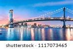 manhattan bridge panorama at... | Shutterstock . vector #1117073465