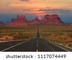 scenic highway in monument... | Shutterstock . vector #1117074449