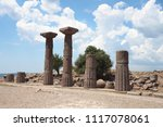 temple of athena. ruins of the... | Shutterstock . vector #1117078061