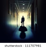 Silhouette Of Businessman...