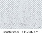 realistic raindrop on the... | Shutterstock .eps vector #1117087574