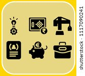 simple 6 icon set of business... | Shutterstock .eps vector #1117090241