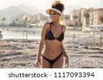 smiling attractive african...   Shutterstock . vector #1117093394