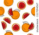 sicilian blood oranges seamless ... | Shutterstock . vector #1117094567