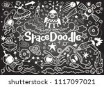 hand drawn space elements... | Shutterstock .eps vector #1117097021