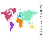 world map vector | Shutterstock .eps vector #1117108991