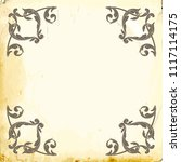 retro baroque decorations... | Shutterstock .eps vector #1117114175