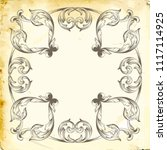 retro baroque decorations... | Shutterstock .eps vector #1117114925