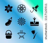 vector icon set about gardening ... | Shutterstock .eps vector #1117120511