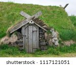 traditional old turf house with ... | Shutterstock . vector #1117121051