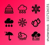 vector icon set about weather... | Shutterstock .eps vector #1117126151