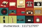 set of old retro vintage... | Shutterstock .eps vector #1117127057