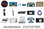 set of old retro vintage... | Shutterstock .eps vector #1117127201