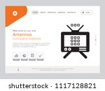 quality one page antennas... | Shutterstock .eps vector #1117128821