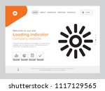 quality one page loading... | Shutterstock .eps vector #1117129565