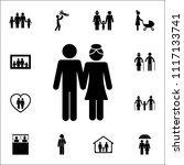 husband and wife icon. detailed ... | Shutterstock .eps vector #1117133741