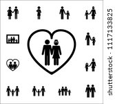 husband and wife in the heart... | Shutterstock .eps vector #1117133825