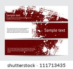 set of maroon vector brush... | Shutterstock .eps vector #111713435