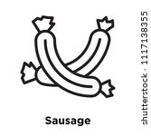 sausage icon vector isolated on ...   Shutterstock .eps vector #1117138355
