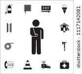 broken arm icon. detailed set... | Shutterstock .eps vector #1117142081