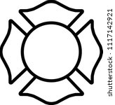 firefighter white emblem st...