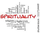 Spirituality Word Cloud Concep...