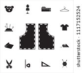 sewing pattern icon. detailed... | Shutterstock .eps vector #1117152524