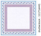 embroidered frame  decorative... | Shutterstock . vector #111716441