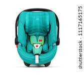 teal baby carrier isolated on... | Shutterstock . vector #1117165175