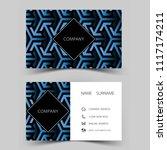 business card template design.... | Shutterstock .eps vector #1117174211
